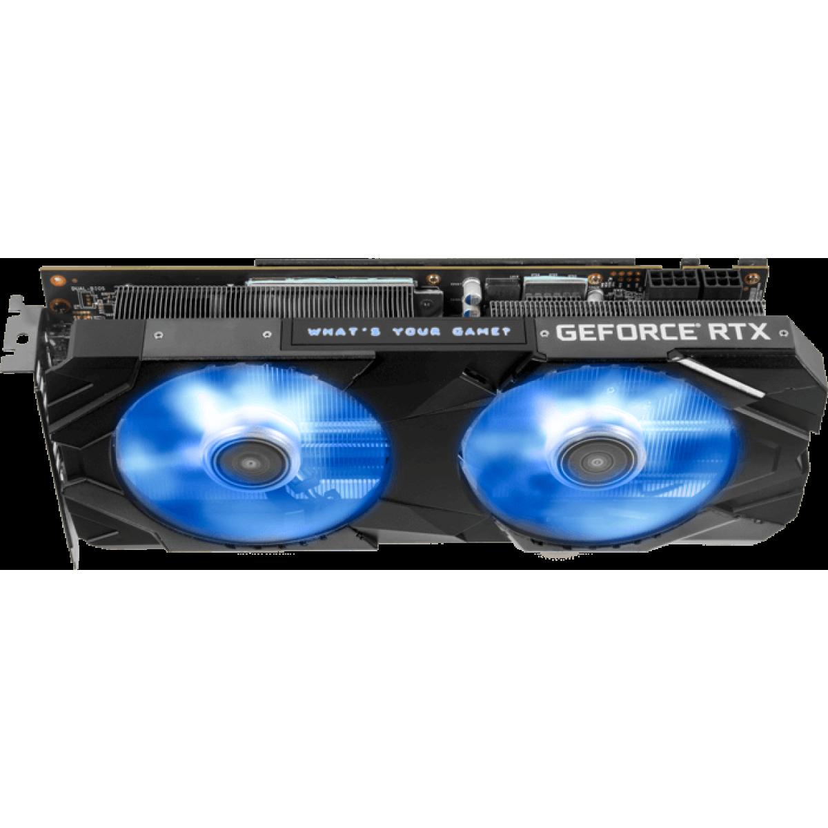 Placa de Vídeo Galax Geforce RTX 2070 EX OC Dual, 8GB GDDR6, 256Bit