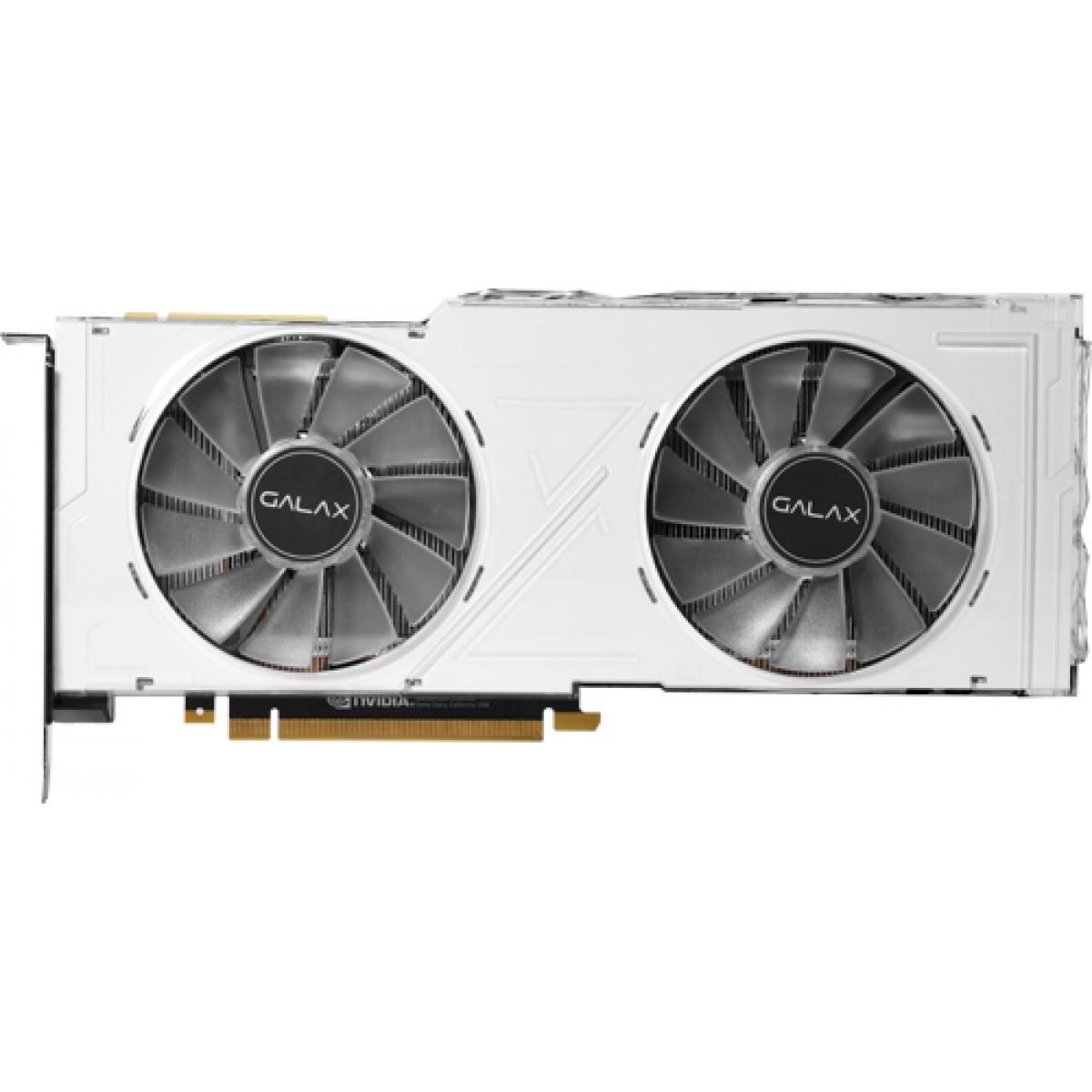 Placa de Vídeo Galax Geforce RTX 2080 Ti White (1-Click OC) Dual, 11GB GDDR6, 352Bit, 28IULBUCT4KW