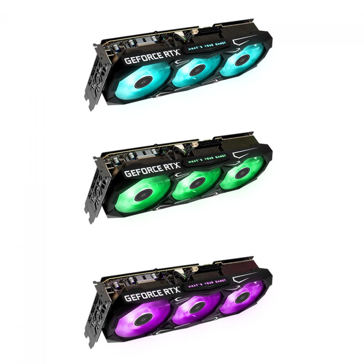 Placa de Vídeo Galax GeForce RTX 3070 Ti SG (1-CLICK OC), LHR, 8GB, GDDR6X, 256bit, DLSS, Ray Tracing, 37ISM6MD4BSG