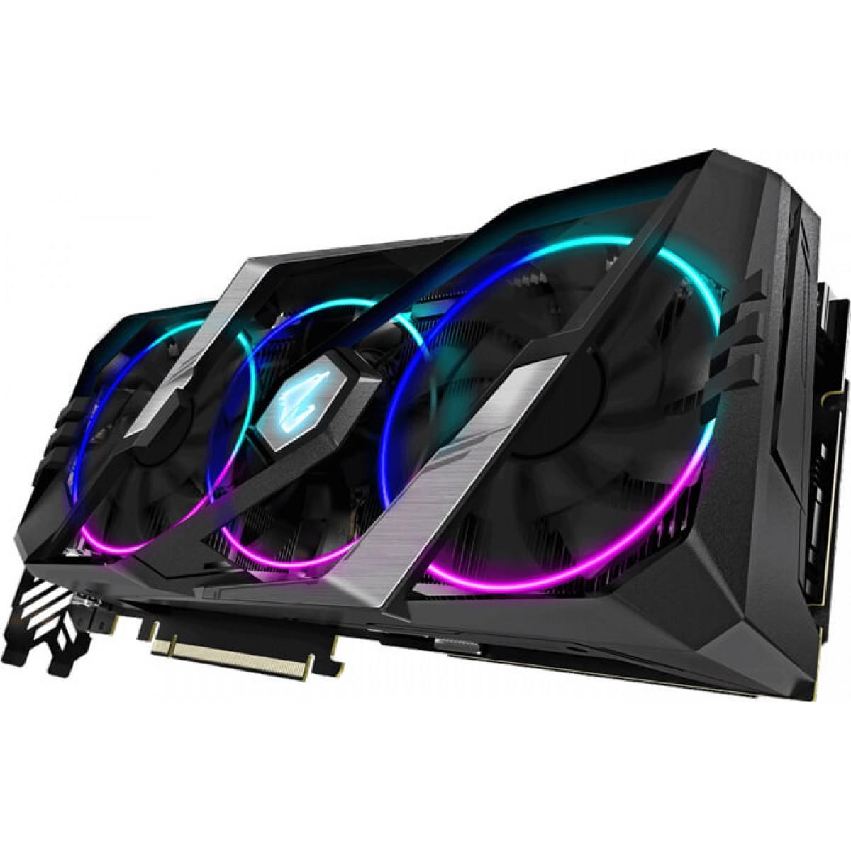 Placa de Vídeo Gigabyte Aorus GeForce RTX 2080 Super, 8GB GDDR6, 256Bit, GV-N208SAORUS-8GC