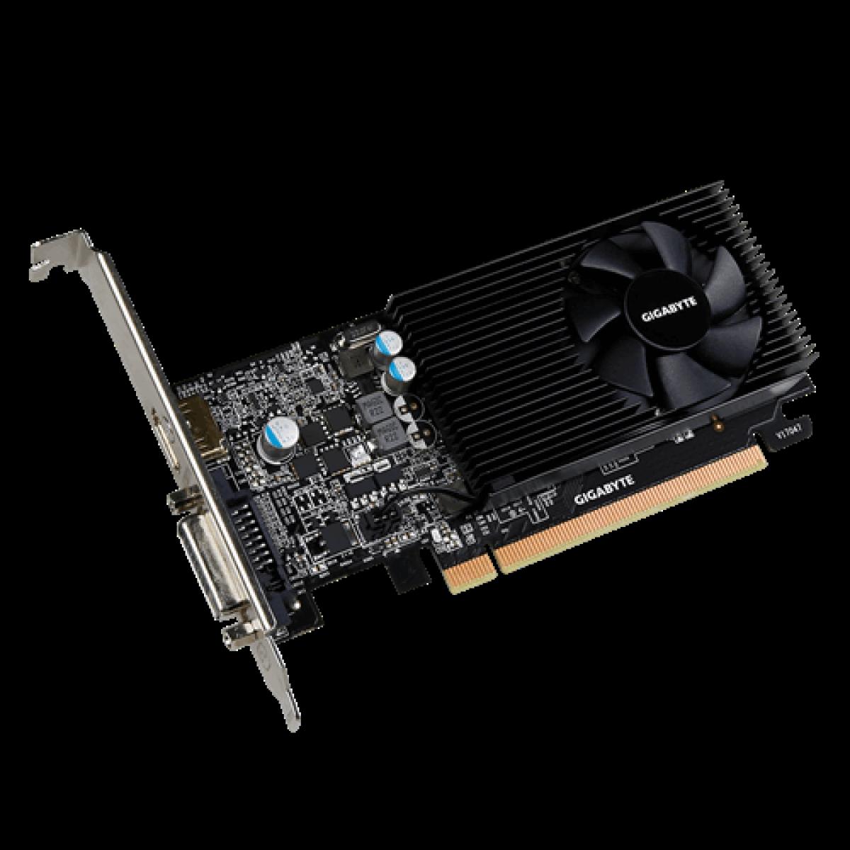 Placa de Vídeo Gigabyte GeForce GT 1030, 2GB, GDDR5, 64bit, GV-N1030D5-2GL