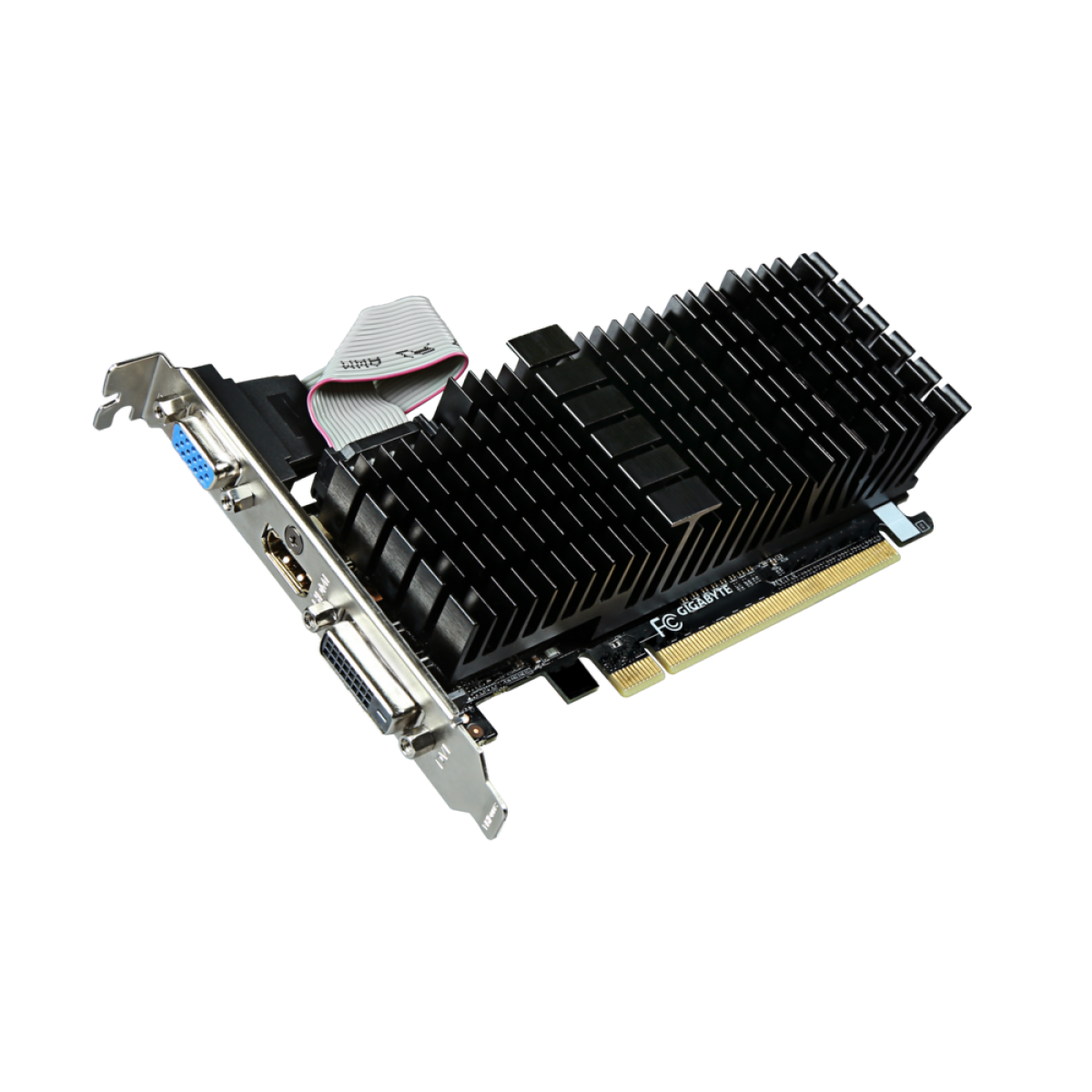 Placa de Vídeo Gigabyte GeForce GT 710, 2GB, DDR3, 64bit, GV-N710SL-2GL