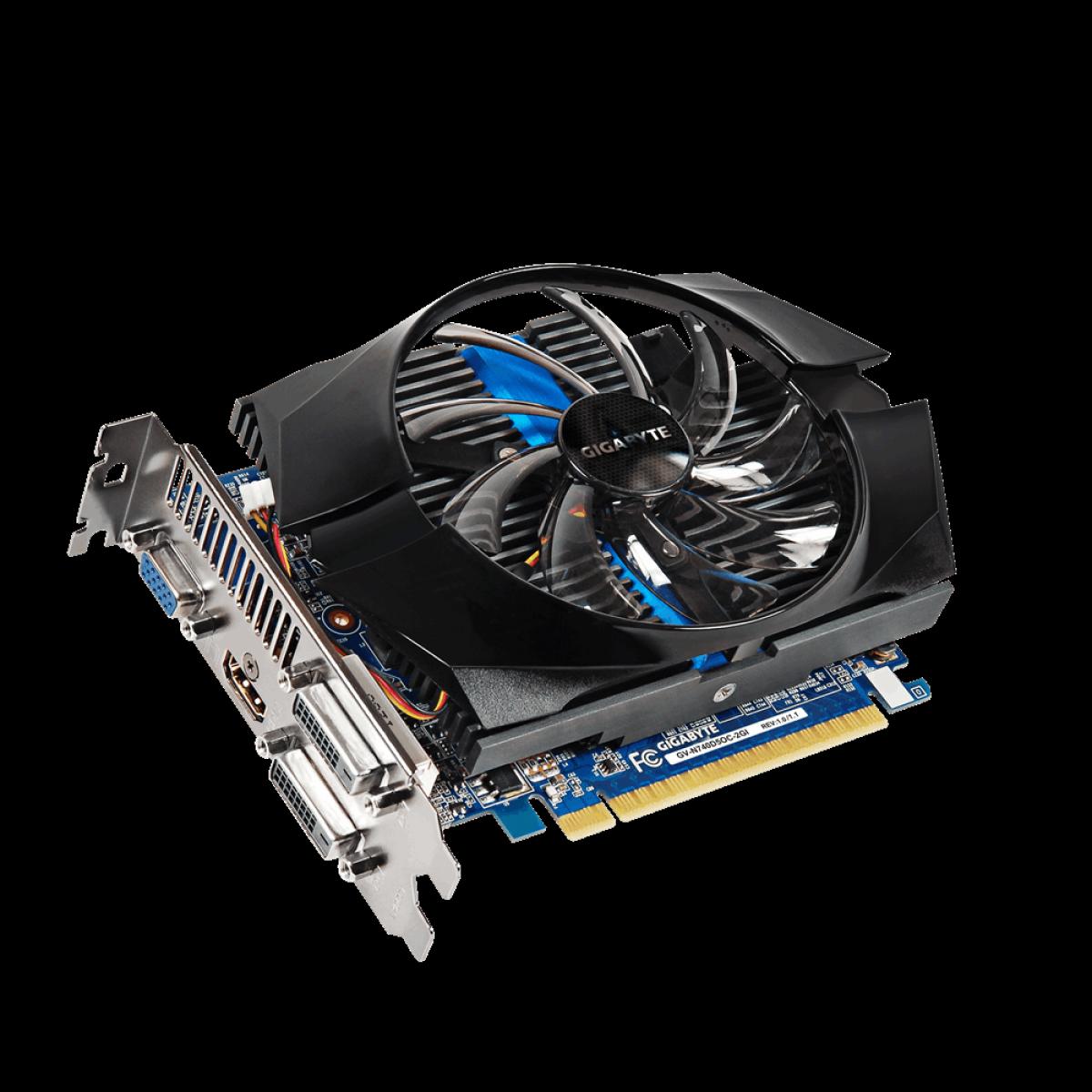 Placa de Vídeo Gigabyte GeForce GT 740, 2GB, GDDR5, 128bit, GV-N740D5OC-2GI