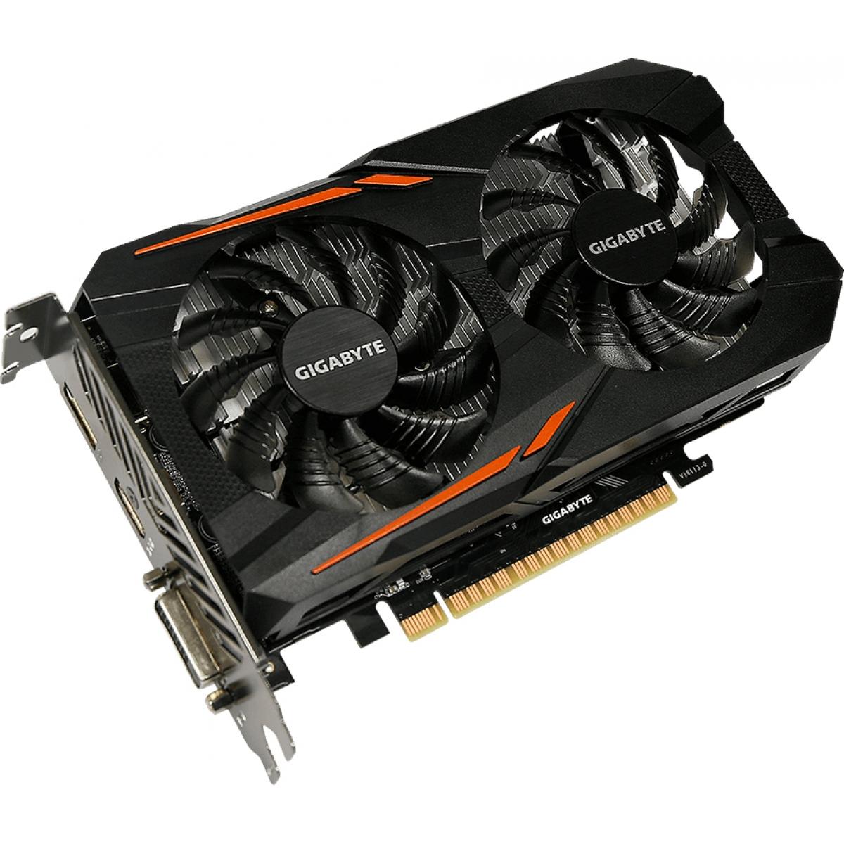 Placa de Vídeo Gigabyte GeForce GTX 1050 OC Dual, 3GB GDDR5, 96Bit, GV-N1050OC-3GD