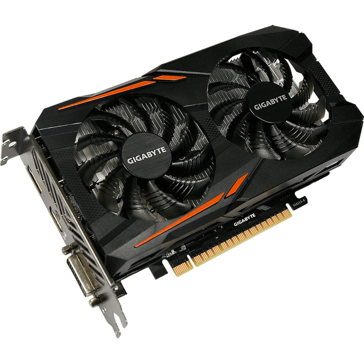 Placa de Vídeo Gigabyte GeForce GTX 1050 Ti OC DUAL FAN 4GB GV-N105TOC-4GD GDDR5 PCI-EXP
