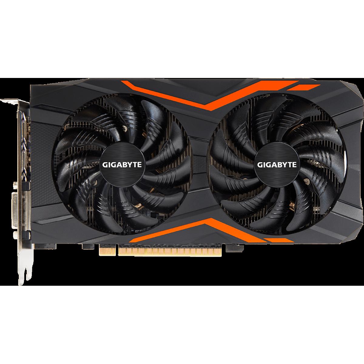 Placa de Vídeo Gigabyte GeForce GTX 1050 Ti G1 Gaming 4G GV-N105TG1 GAMING-4GD GDDR5 PCI-EXP