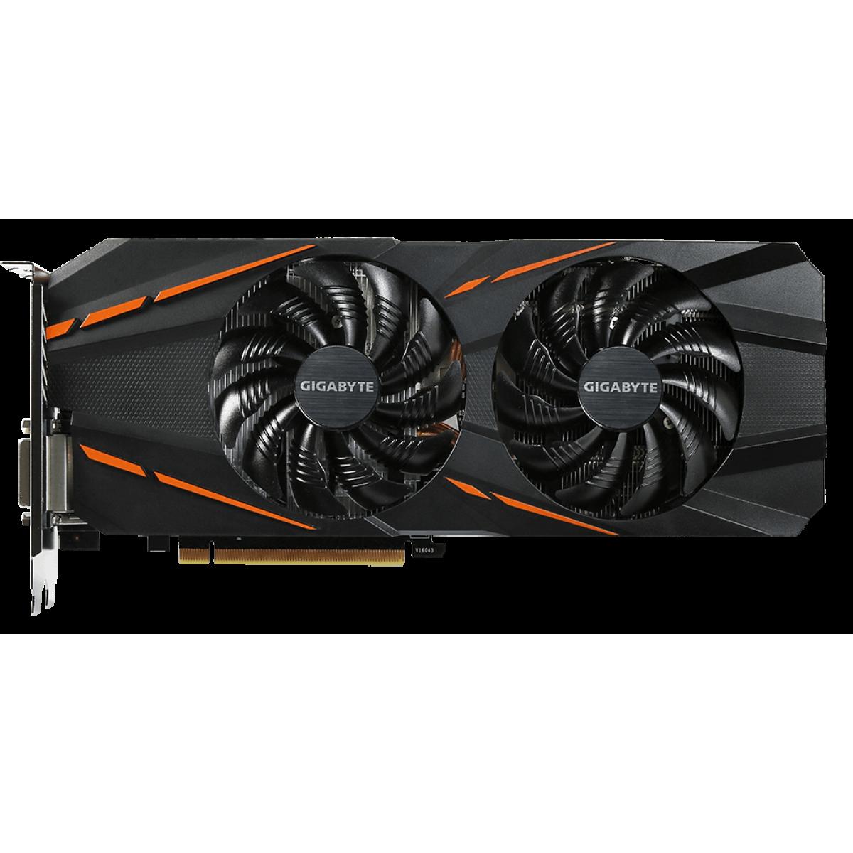Placa de Video Gigabyte GeForce GTX 1060 G1 Gaming 6GB GV-N1060G1 GAMING-6GD R2 GDDR5 PCI-EXP
