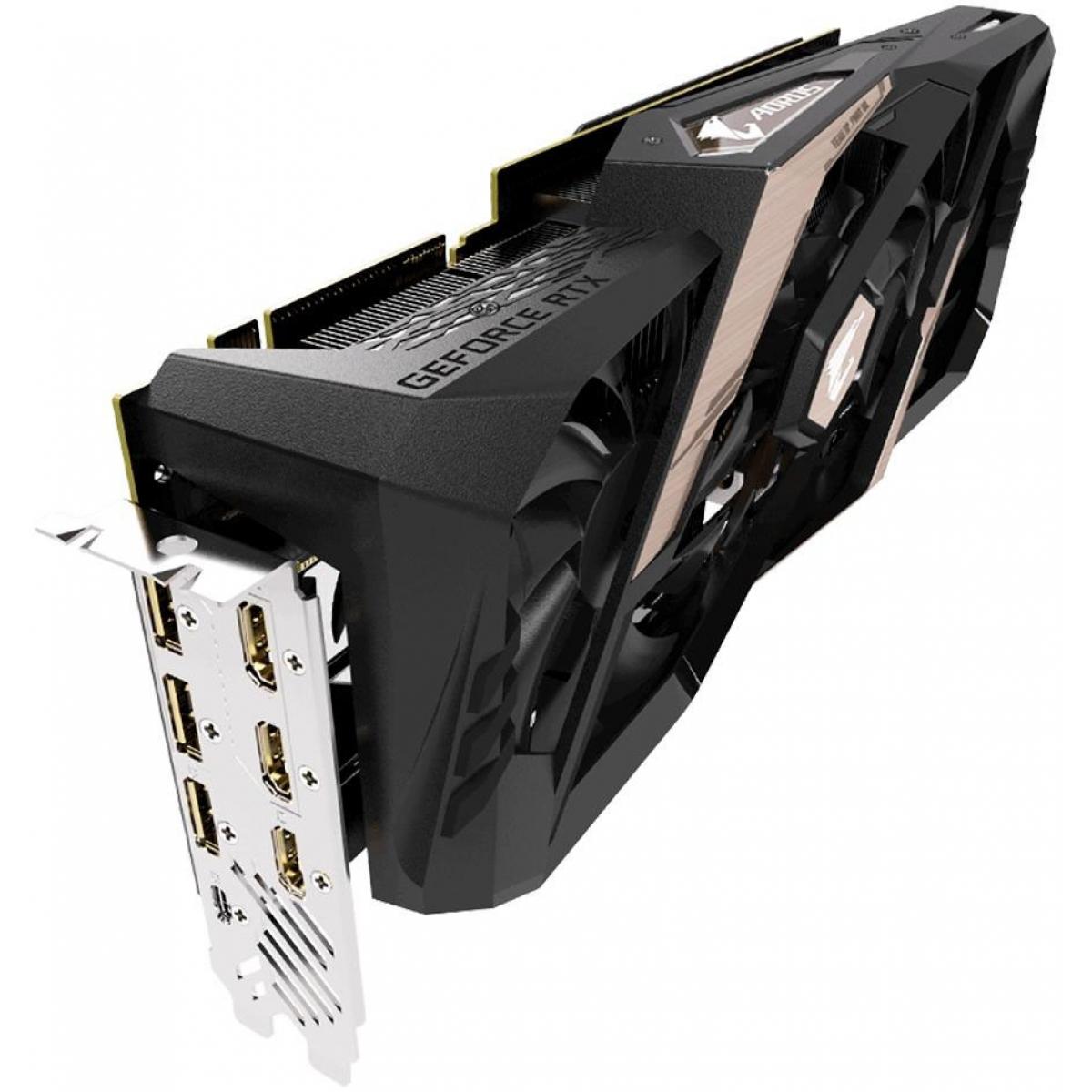 Placa de Video Gigabyte GeForce RTX 2080 Aorus, 8GB GDDR6, 256Bit