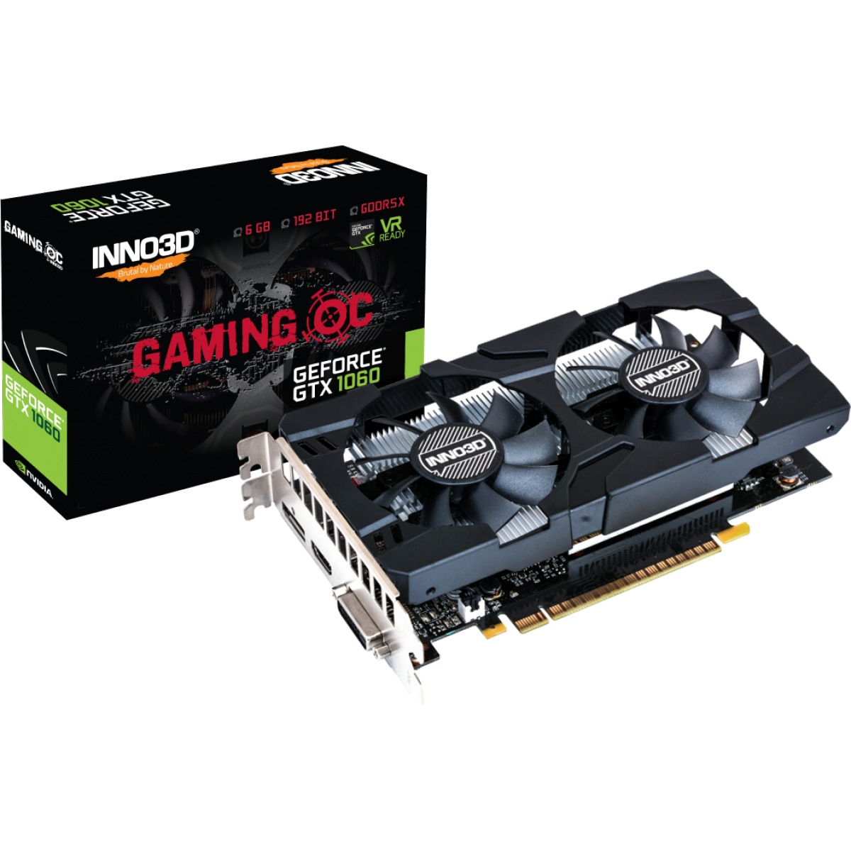 Placa de Vídeo Inno3D GeForce GTX 1060 Gaming OC, 6GB GDDR5X, 192Bit
