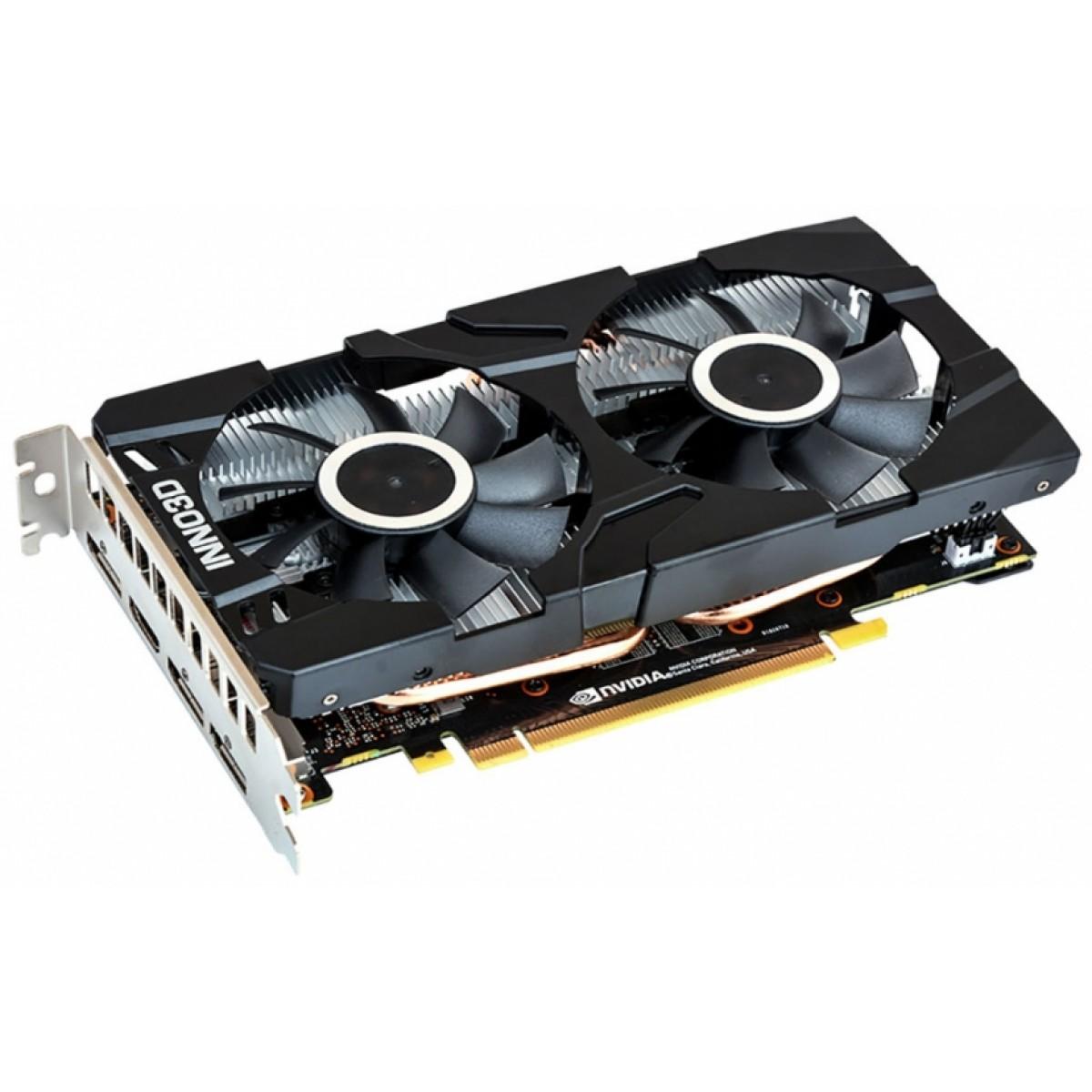 Placa de Vídeo Inno3D GeForce GTX 1660 Ti Twin X2, 6GB GDDR6, 192Bit, N166T2-06D6-1710VA15