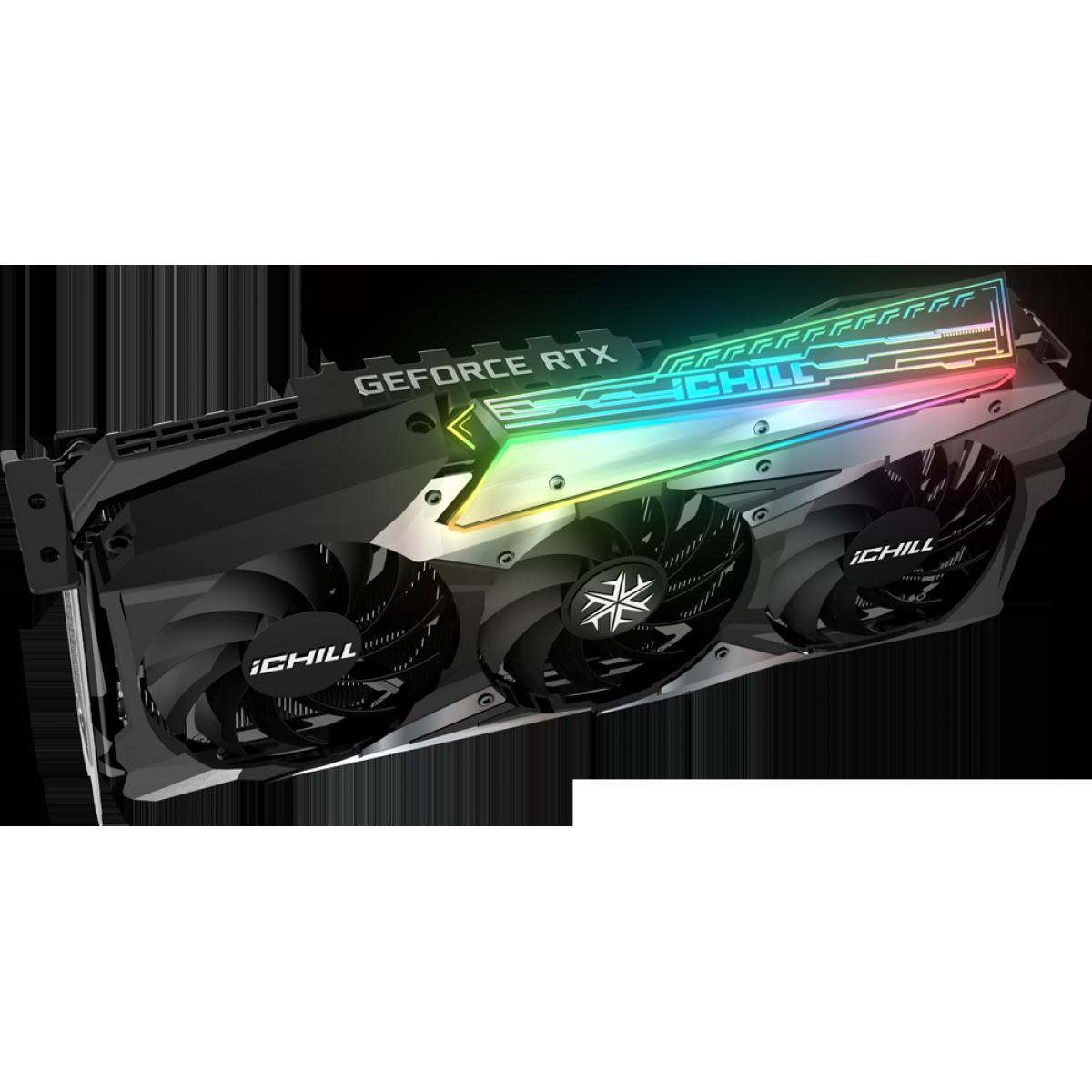 Placa de Vídeo INNO3D Geforce, ICHILL X3, RTX 3080, 10GB, GDDR6X, 320bit, INNO3D GEFORCE RTX 3080 ICHILL X3