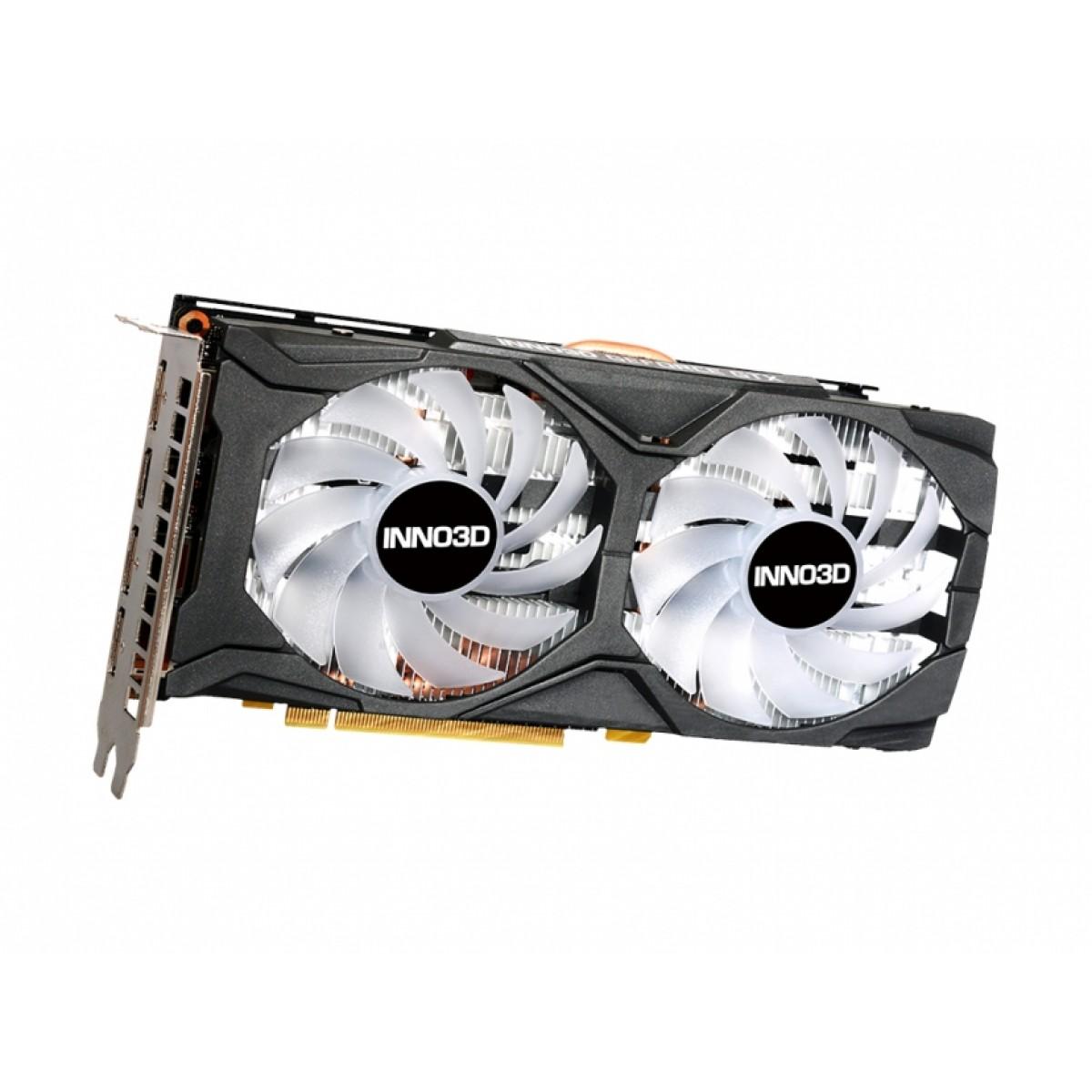 Placa de Vídeo Inno3D GeForce RTX 2060 Twin X2 OC RGB, 6GB GDDR6, 192Bit, N20602-06D6X-1710VA15LB