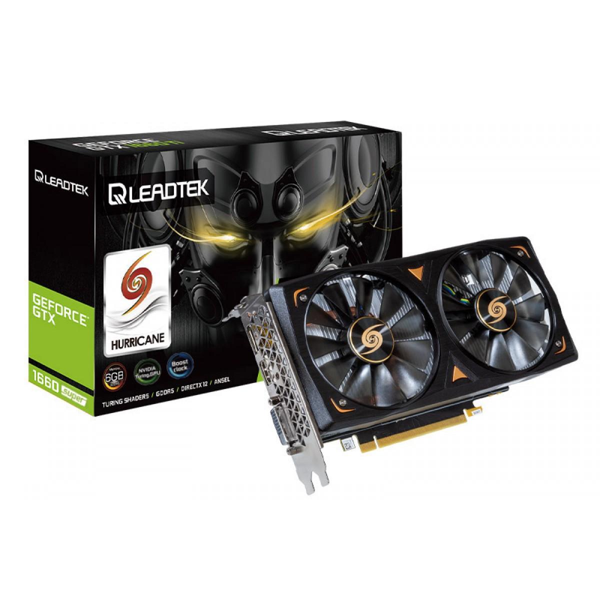 Placa de Vídeo Leadtek WinFast Geforce GTX 1660 Super Hurricane, 6GB, GDDR6, 192bit