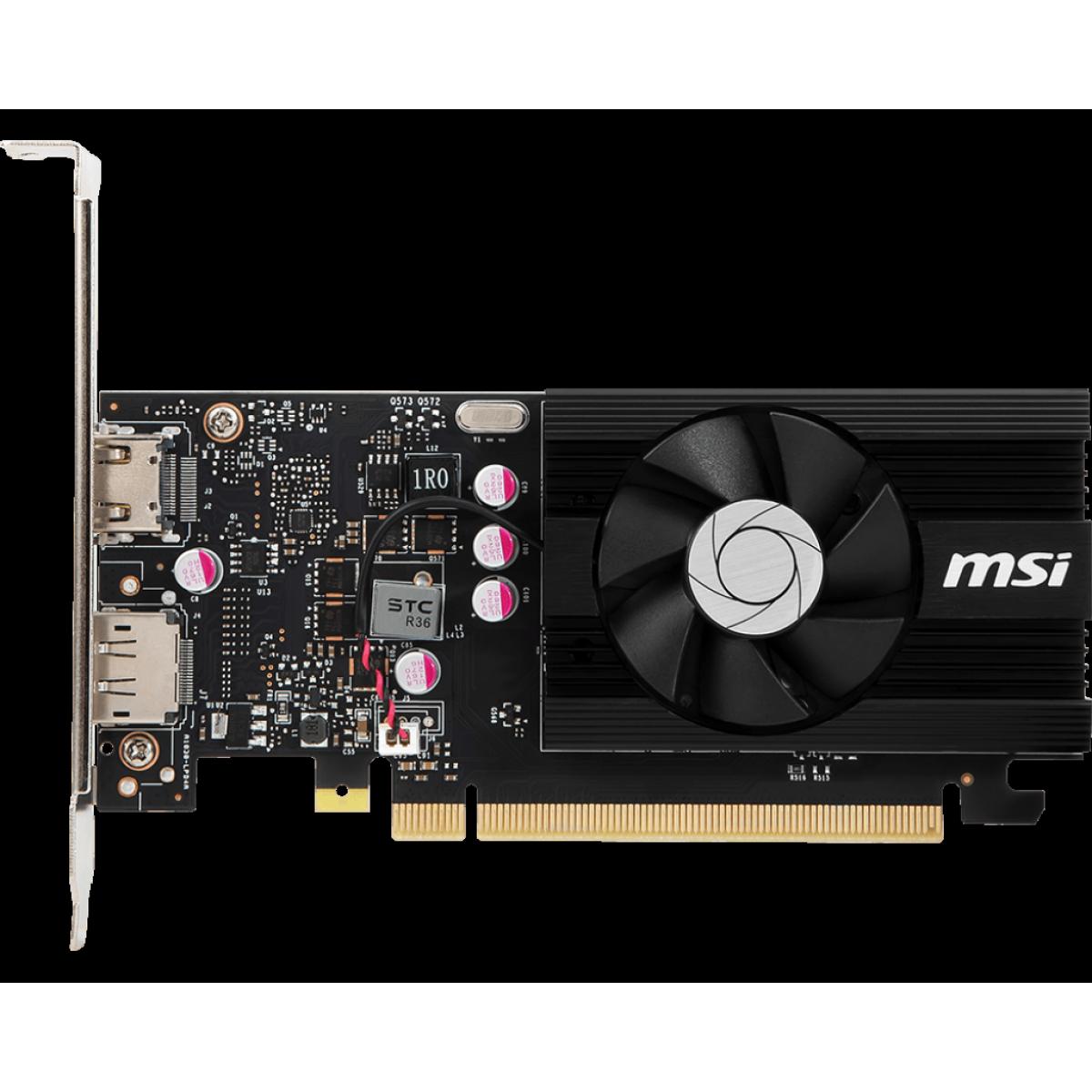 Placa de Vídeo MSI, Geforce, GT 1030 2GD4 LP OC, 2GB, DDR4, 64 bit, 912-V809-2826