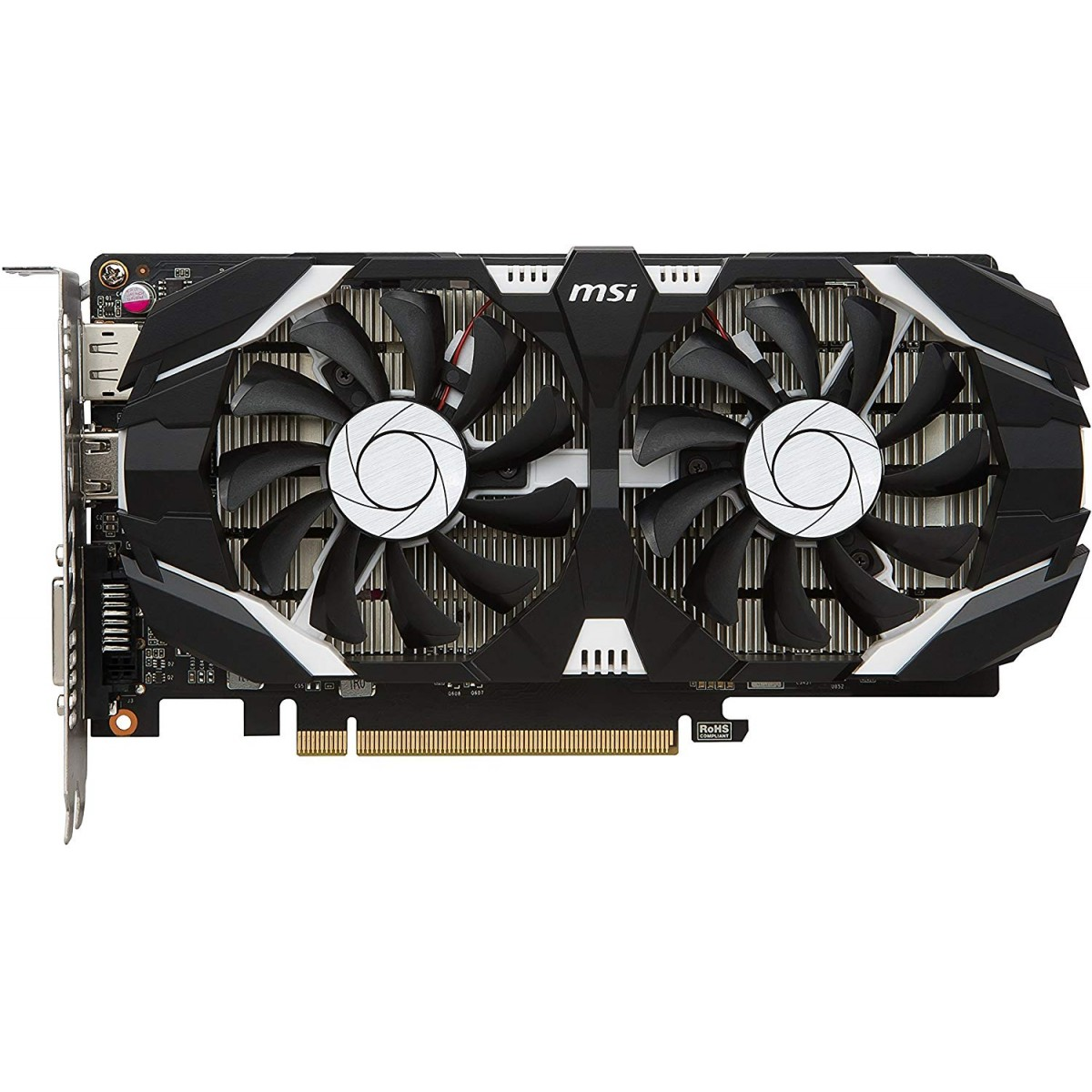 Placa de Vídeo MSI GeForce GTX 1050 Ti 4GT, OC, 4GB, Dual Fan, GDDR5, 912-V809-2272
