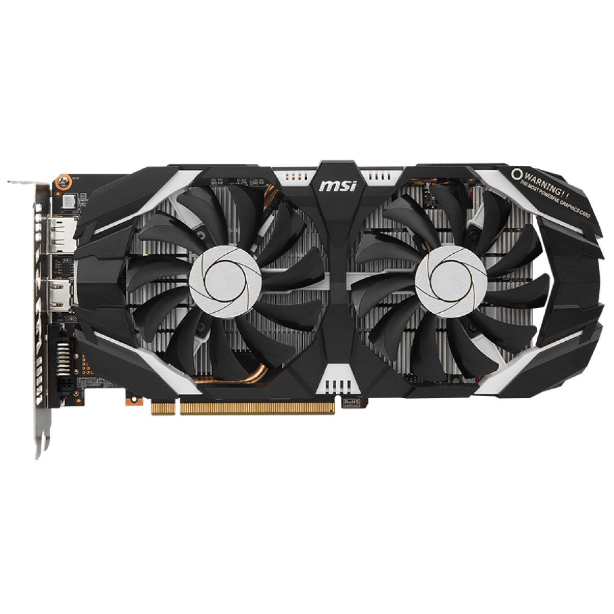 Placa de Video GeForce MSI GTX 1060 6GT Dual OC, 6GB GDDR5, 192 Bit