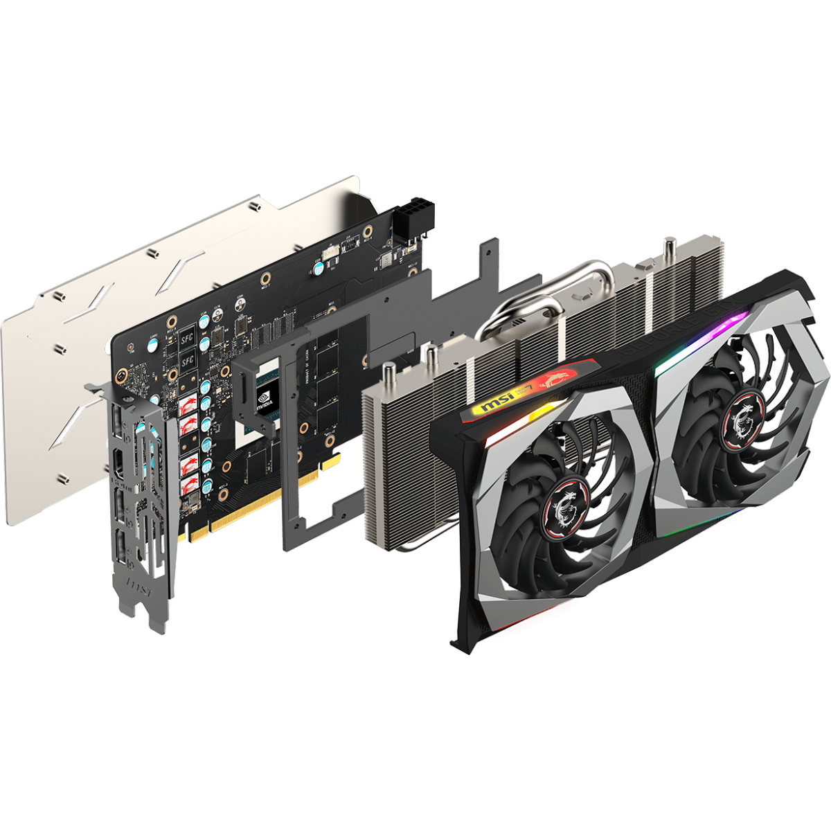 Placa de Vídeo MSI GeForce GTX 1660 Super Gaming X, 6GB GDDR6, 192Bit