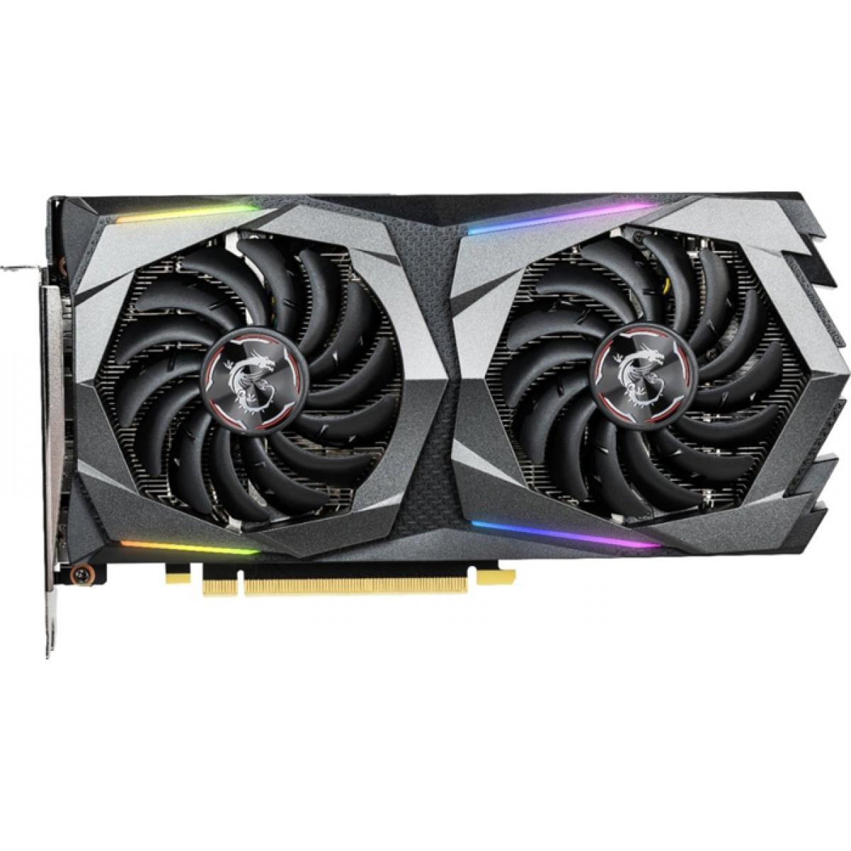 Placa de Vídeo Msi GeForce GTX 1660 Ti GAMING X Dual, 6GB GDDR6, 192Bit