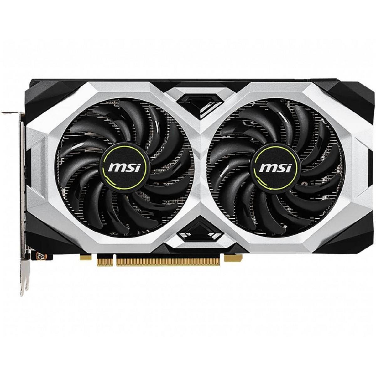 Placa de Video MSI, GeForce, RTX 2060 Super Ventus OC, Dual, 8GB, GDDR6, 256Bit, 912-V375-253