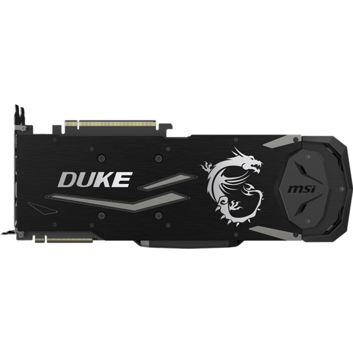 Placa de Video MSI GeForce RTX 2080 Ti Duke OC, 11GB GDDR6, 352Bit