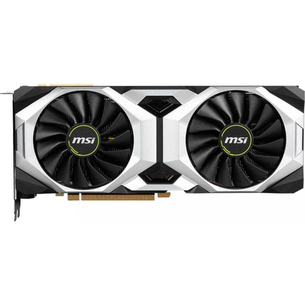 Placa de Video MSI GeForce RTX 2080 Ventus Dual, 8GB GDDR6, 256Bit