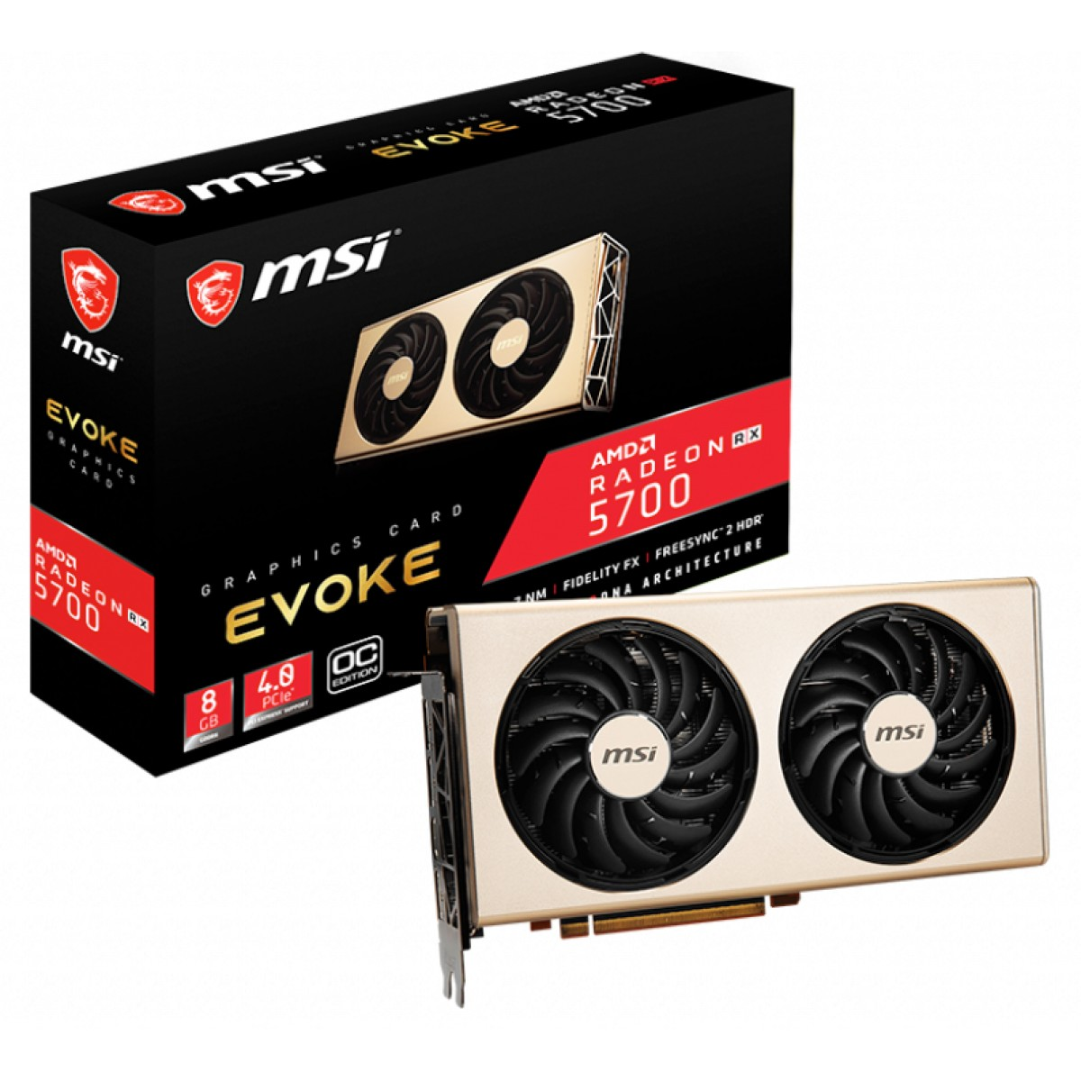 Placa de vídeo RX 5700 Evoke