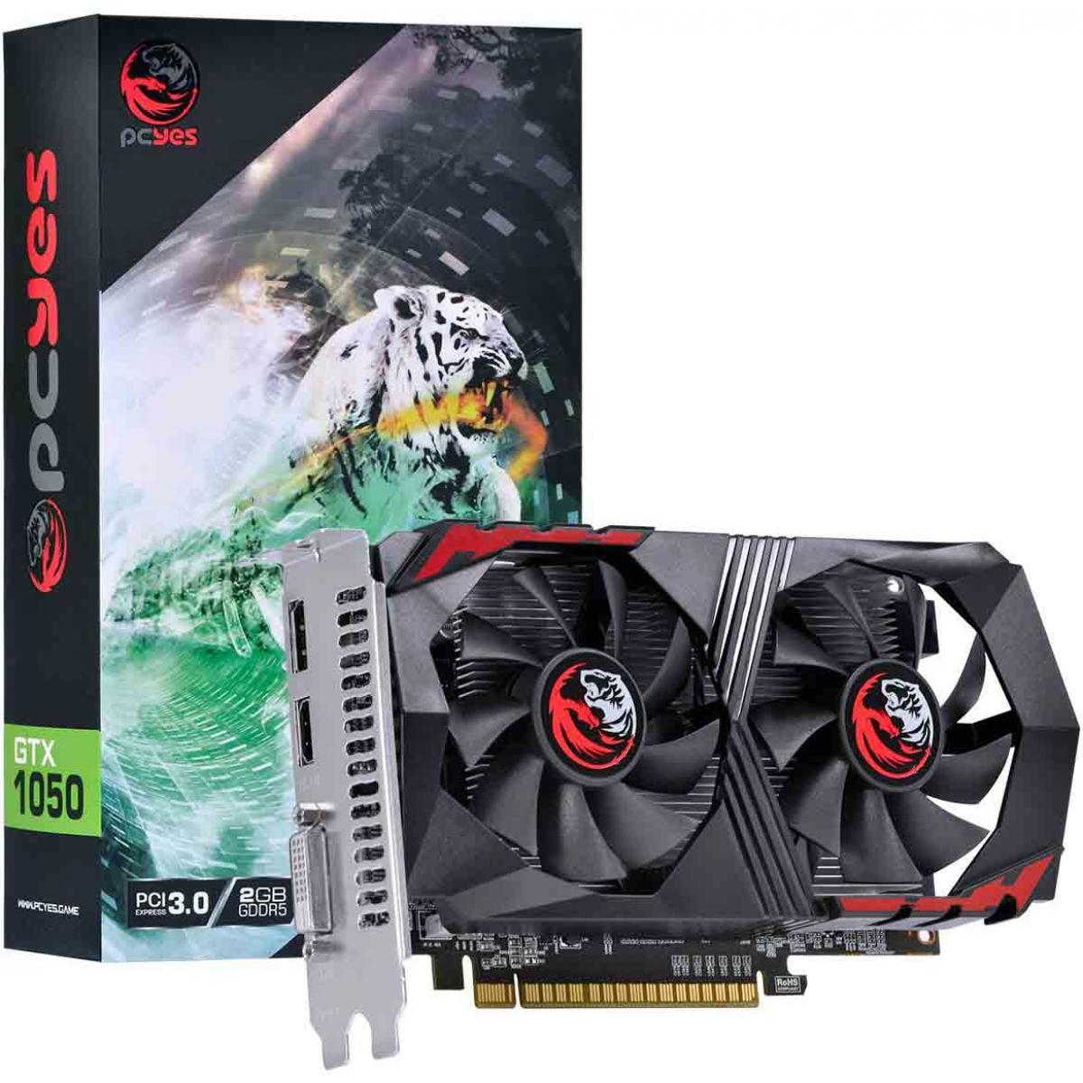 Placa de Vídeo PCYES GeForce GTX 1050 Dual, 2GB GDDR5, 128Bit, PA1050GTX12802G5