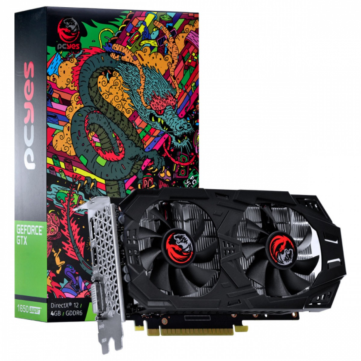 Placa de Vídeo PCyes GeForce GTX 1650 Super Graffiti Series, 4GB GDDR6, 128Bit, PA16504DR6128FS