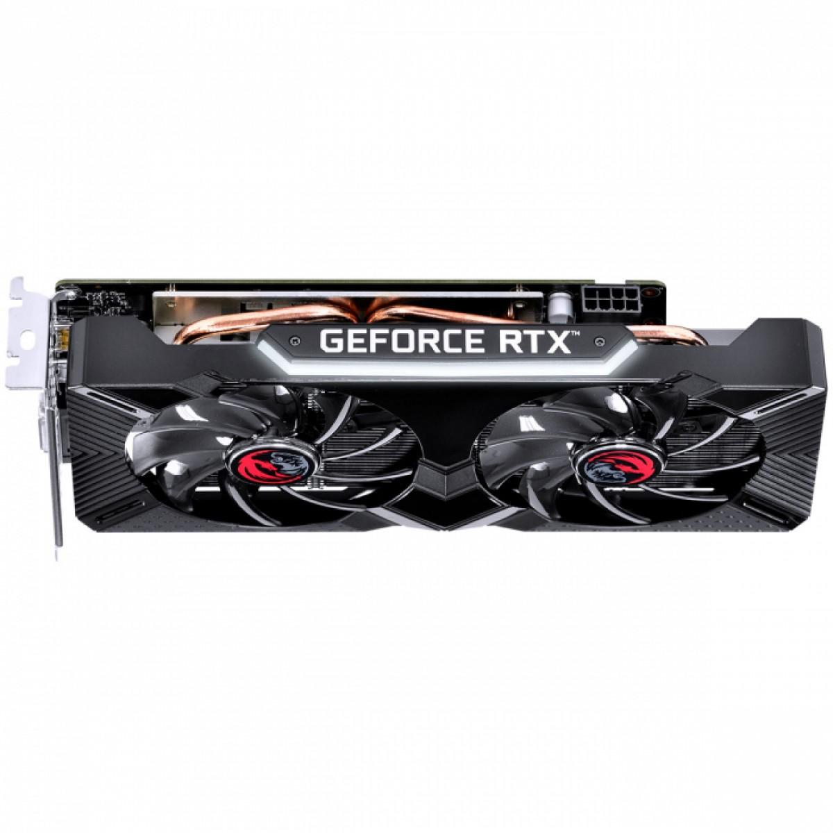 Placa de Vídeo PCYes, GeForce RTX 2060 Dual OC, Graffiti Series, 6GB, GDDR6, 192Bit, PPGF2060DR6192