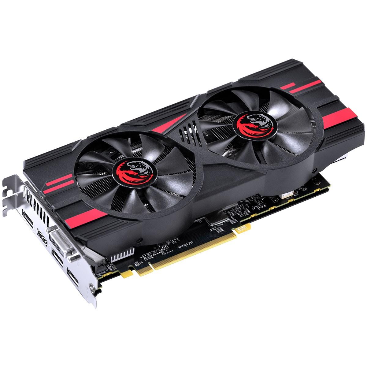 Placa de Vídeo PCyes Radeon RX 580 Dual Graffiti Series, 8GB GDDR5, 256Bit, PJ580RX25608G5DF