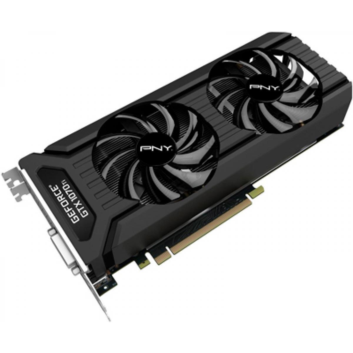 Placa de Vídeo PNY GeForce 1070 Ti Dual, 8GB GDDR5, 256Bit, GMX107TN3H8GS2KTP
