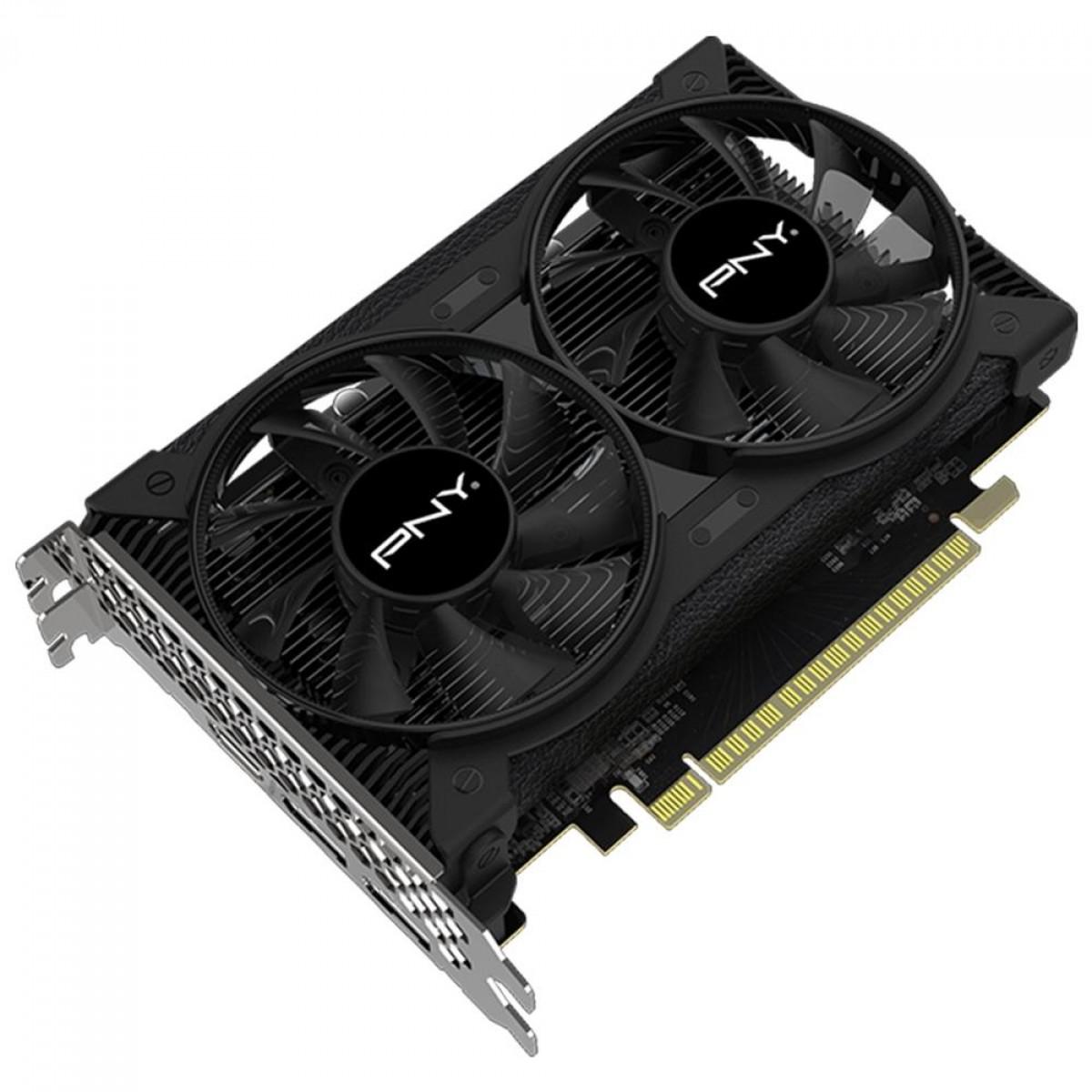 Placa de Vídeo PNY, GeForce, GTX 1650, 4GB, GDDR6, 128Bit, VCG16504D6DFPPB