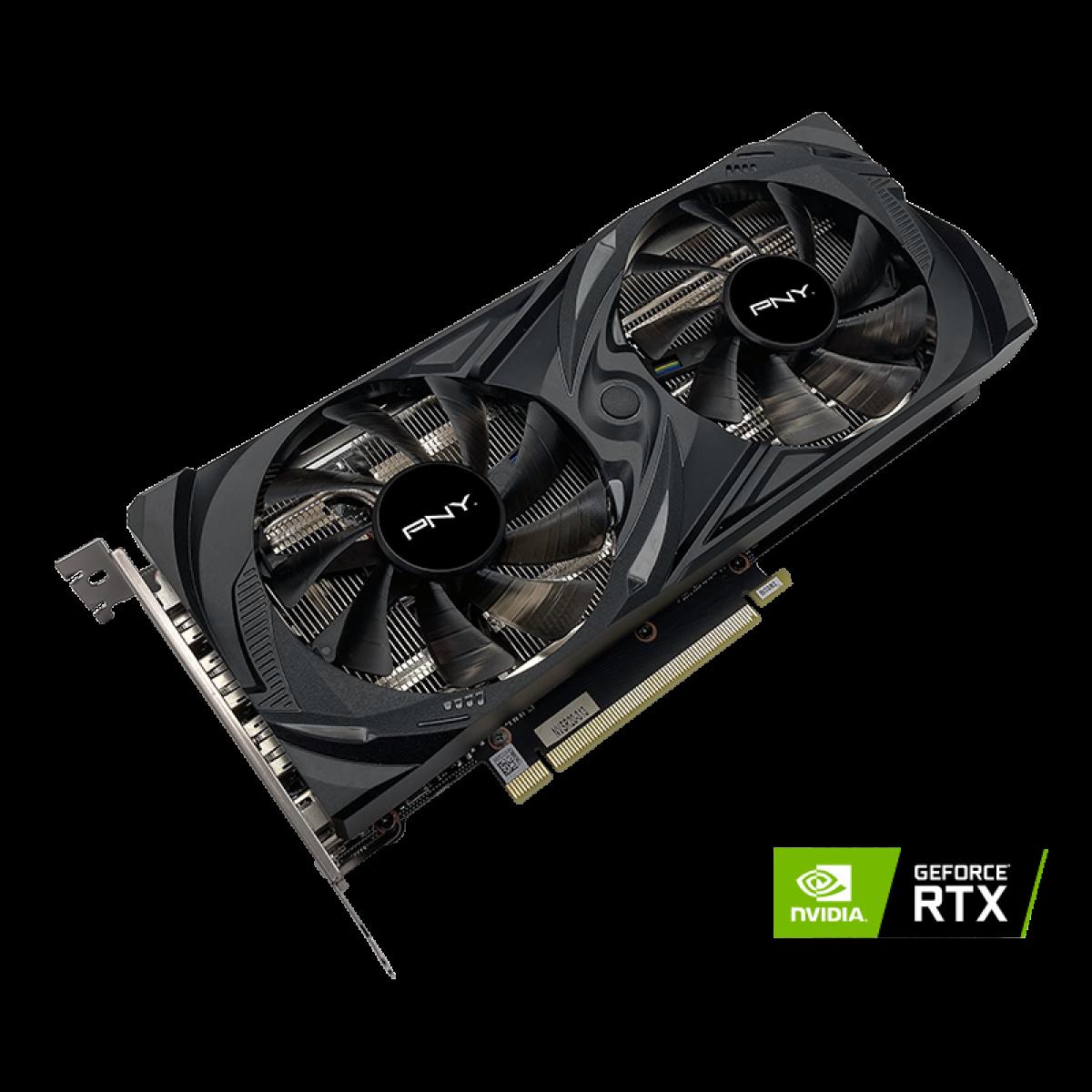 Placa de Vídeo PNY GeForce RTX 3060 Uprising Dual, 12GB, GDDR6, 192bit, VCG306012DFMPB