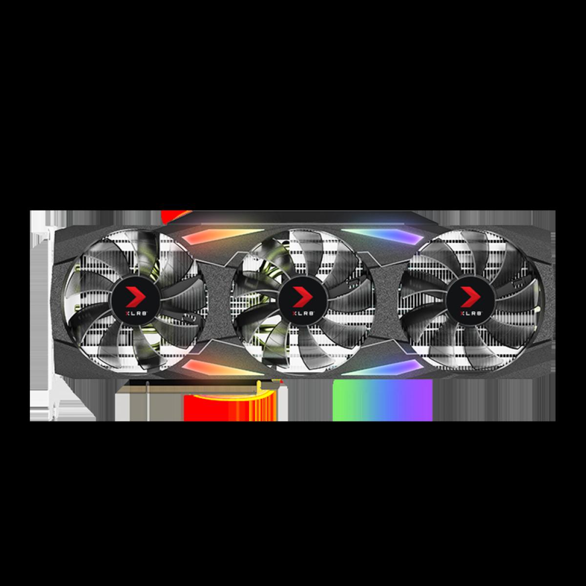 Placa de Vídeo PNY GeForce RTX 3080 XLR8 Gaming EPIC-X RGB Triple, 10GB, GDDR6X, 320Bit, VCG308010TFXMPB