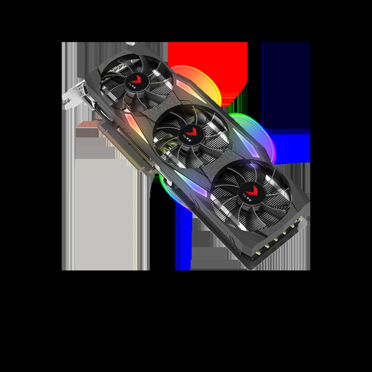 Placa de Vídeo PNY GeForce, RTX 3090 XLR8 Gaming EPIC-X RGB Triple, 24GB, GDDR6X, 384Bit, VCG309024TFXMPB