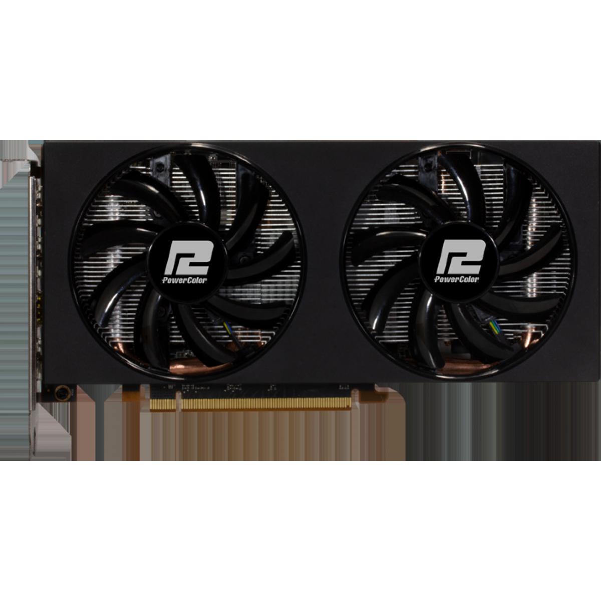 Placa de Vídeo Powercolor, Radeon, Navi RX 5600 XT Dual OC, 6GB, GDDR6, AXRX 5600XT 6GBD6-3DHV2/OC
