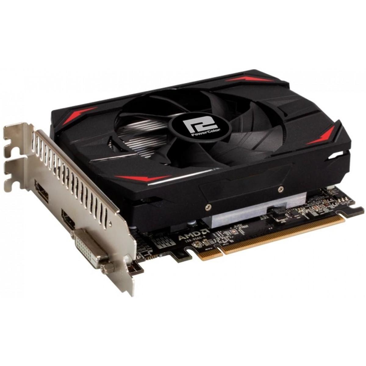 Placa de Vídeo PowerColor, Radeon, RX 550 Red Dragon, 4GB, DDR5, 128Bit, AXRX 550 4GBD5-DH