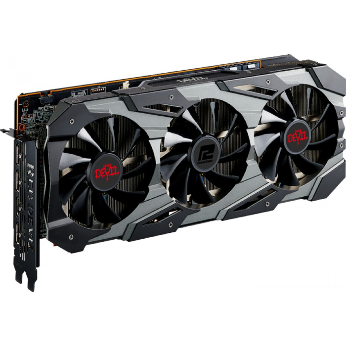 Placa de Vídeo PowerColor Radeon RX 5700 XT Red Devil, 8GB GDDR6, 256Bit, AXRX 5700 XT 8GBD6-3DHE/OC