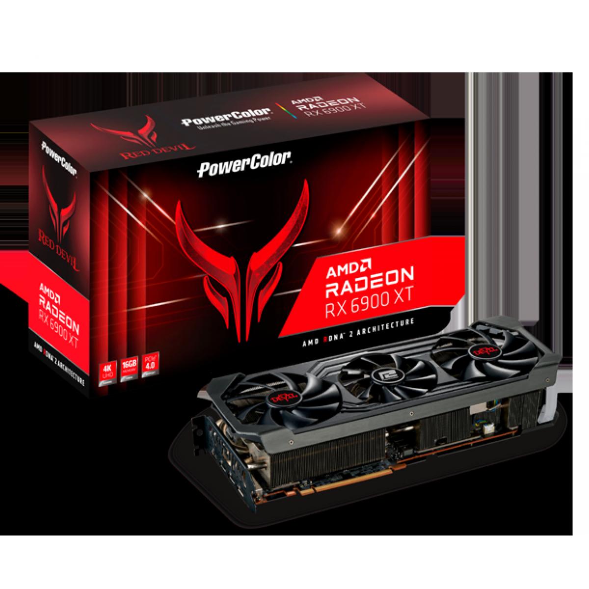 Placa de Vídeo PowerColor Radeon RX 6900 XT Red Devil, 16GB, GDDR6, 256bit, AXRX 6900XT 16GBD6-3DHE/OC - Open Box