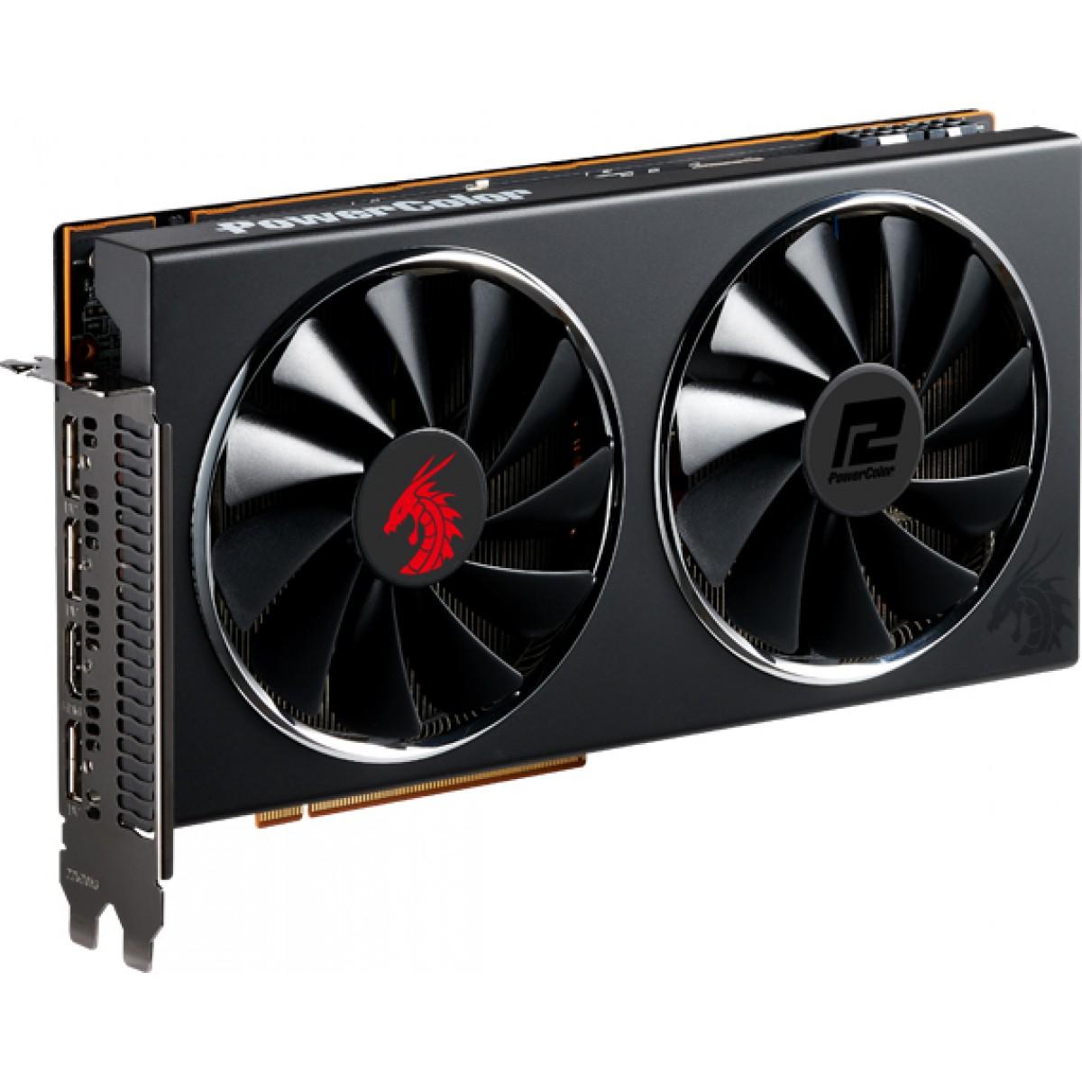 Placa de Vídeo PowerColor Radeon Navi RX 5700 Red Dragon, 8GB GDDR6, 256Bit, AXRX 5700 8GBD6-3DHR/OC