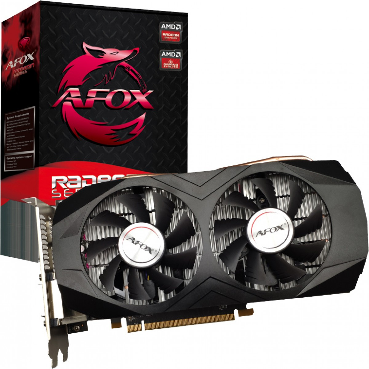 Placa de Vídeo Radeon RX 580 8GB GDDR5, 256Bit, Dual Fan, AFRX580-8192D5H5