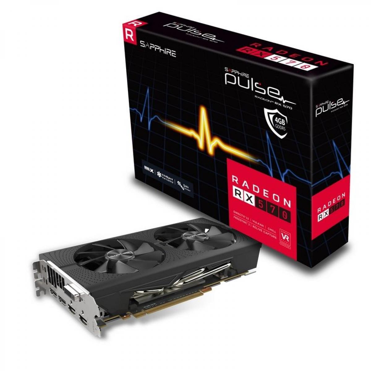 Placa de Vídeo Sapphire Radeon RX 570 Pulse Dual, 4GB GDDR5, 256BIT, 11266-04-20G