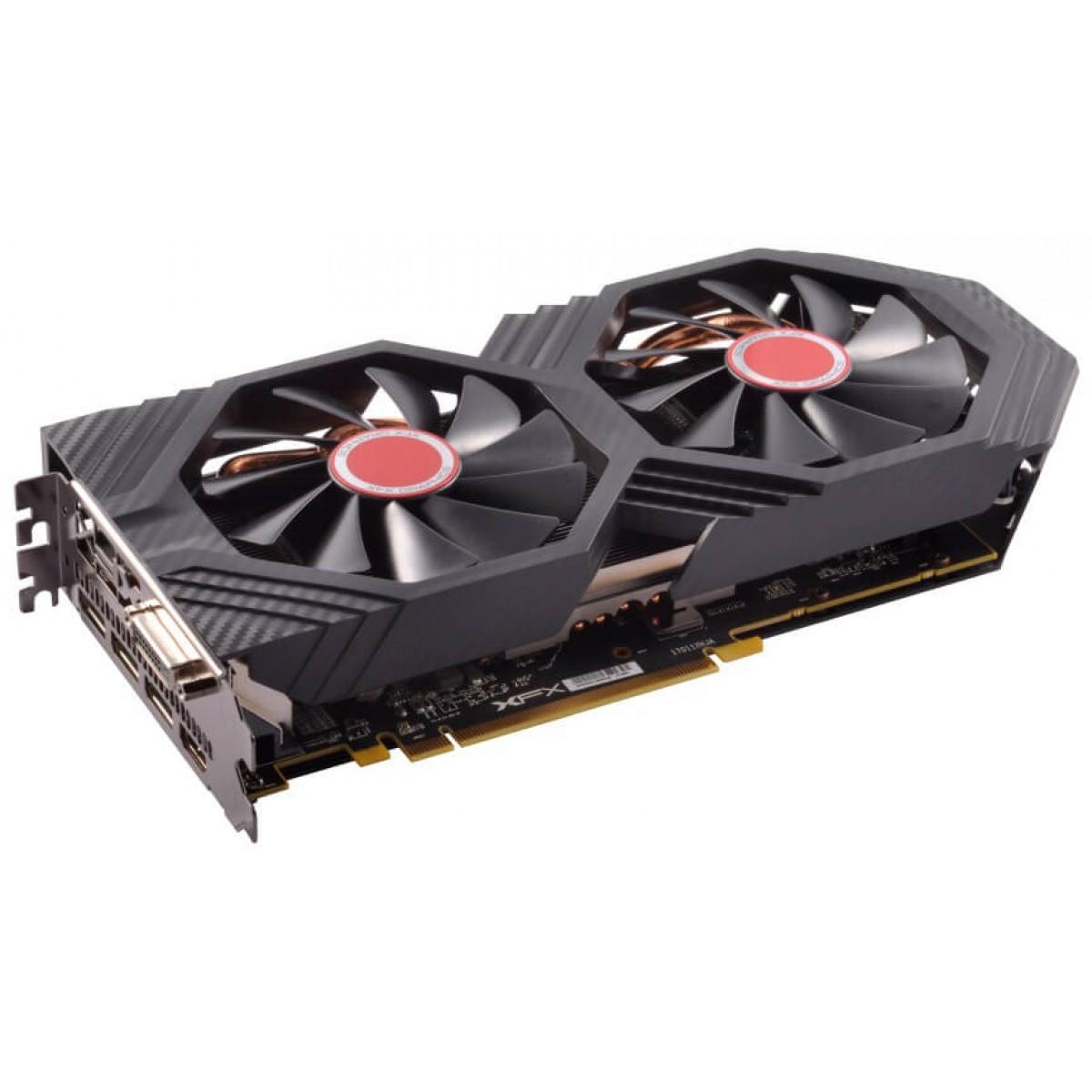 Placa de Vídeo XFX Radeon RX 580, GTS Black Edition, 8GB, Dual Fan OC+