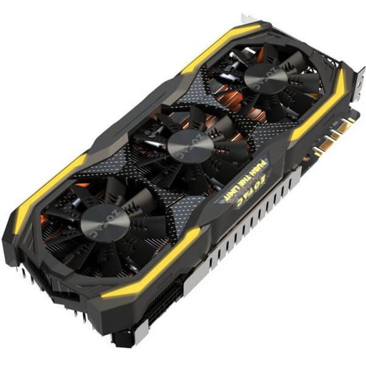 Placa de Vídeo Zotac GeForce GTX 1070 Ti AMP Extreme 8GB ZT-P10710B-10P GDDR5 PCI-EXP