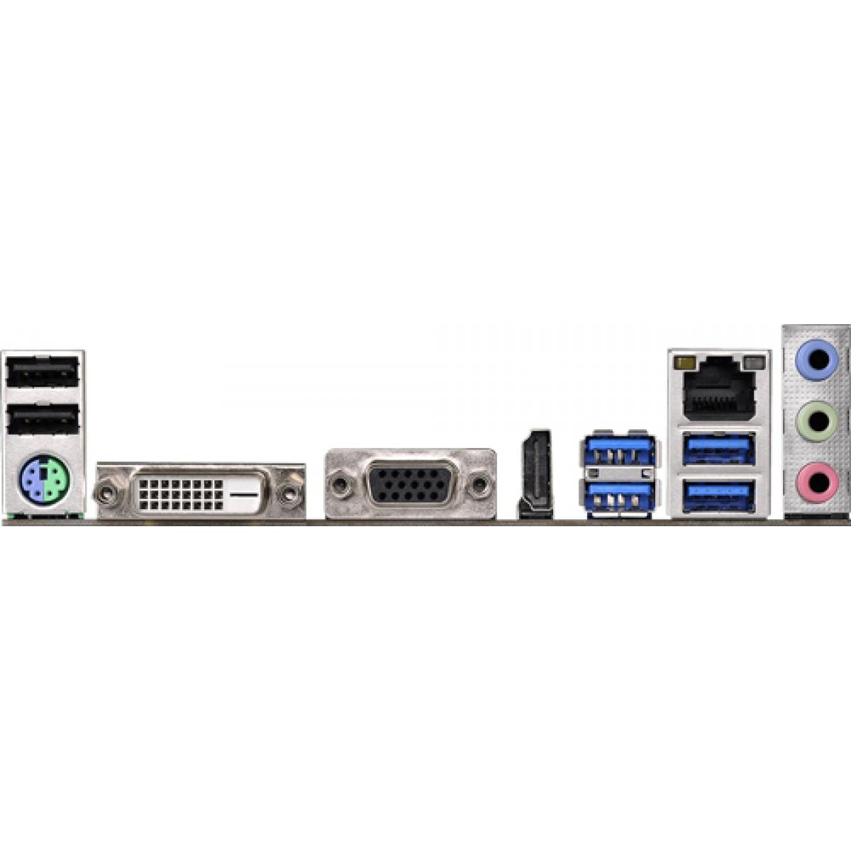 Placa Mãe ASRock AB350M-HDV, Chipset B350, AMD AM4, mATX, DDR4