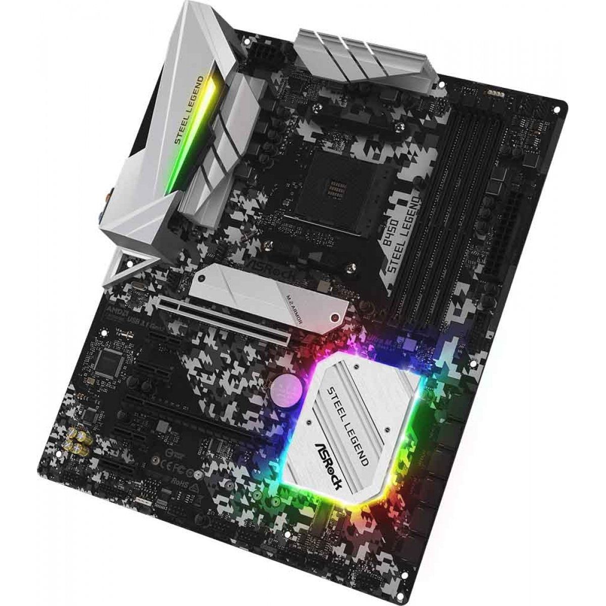 Placa Mãe ASRock B450 Steel Legend, Chipset B450, AMD AM4, ATX, DDR4