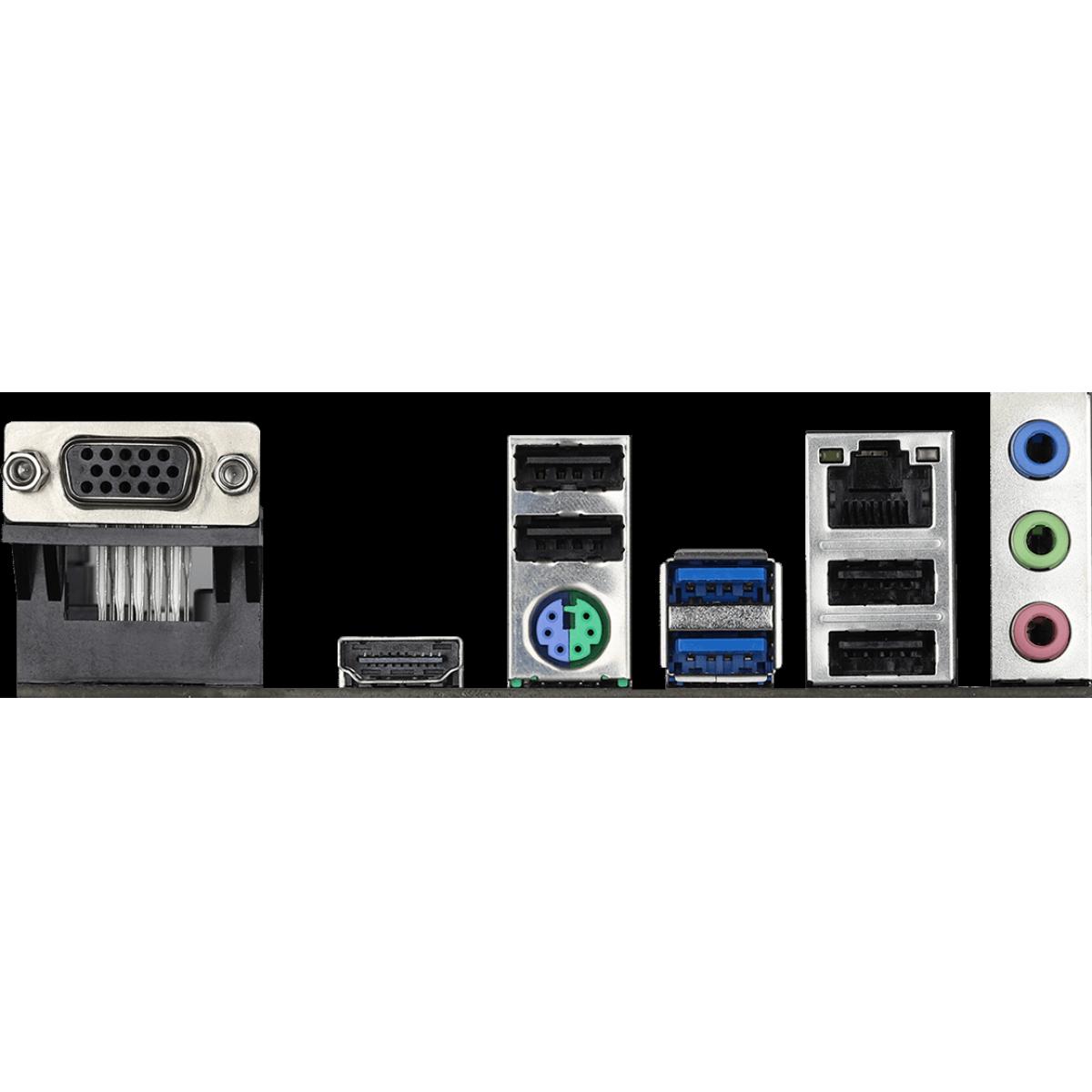 Placa Mãe Asrock H410M-HVS, Chipset H410M, Intel LGA 1200, mAXT, DDR4