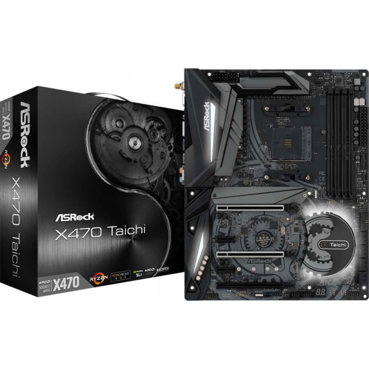 Placa Mãe ASRock X470 Taichi Wifi, Chipset X470, AMD AM4, ATX, DDR4