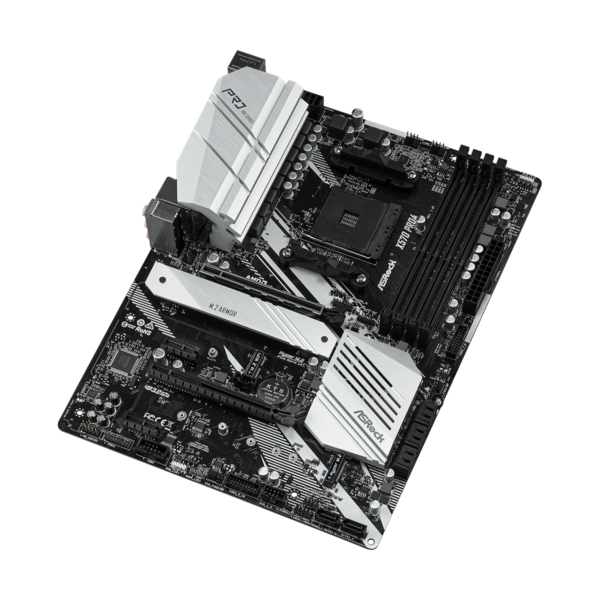 Placa Mãe Asrock X570 Pro4, Chipset X570, AMD AM4, ATX, DDR4