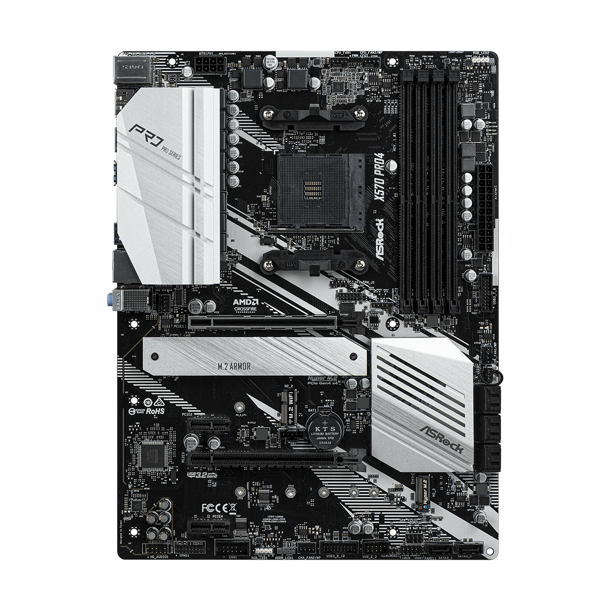 Placa Mãe Asrock X570 Pro4, Chipset X570, AMD AM4, Wifi, ATX, DDR4